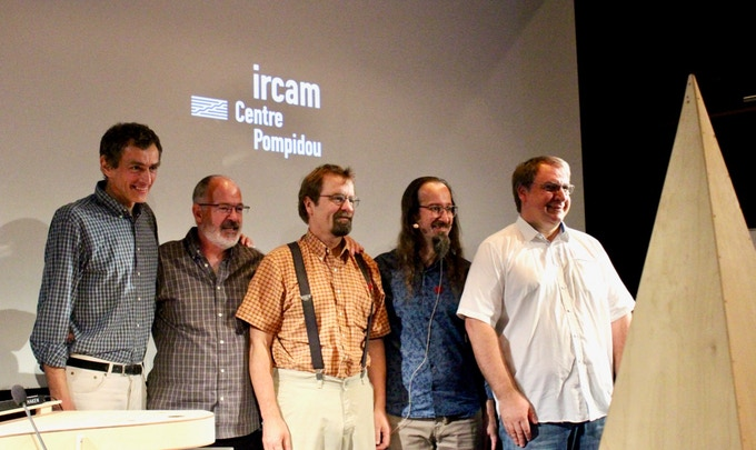Marc, Ed, Lippold, Christophe and Luc at IRCAM