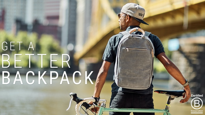 Get a better all-day backpack designed to look amazing and carry everything, with canvas made from recycled plastic bottles