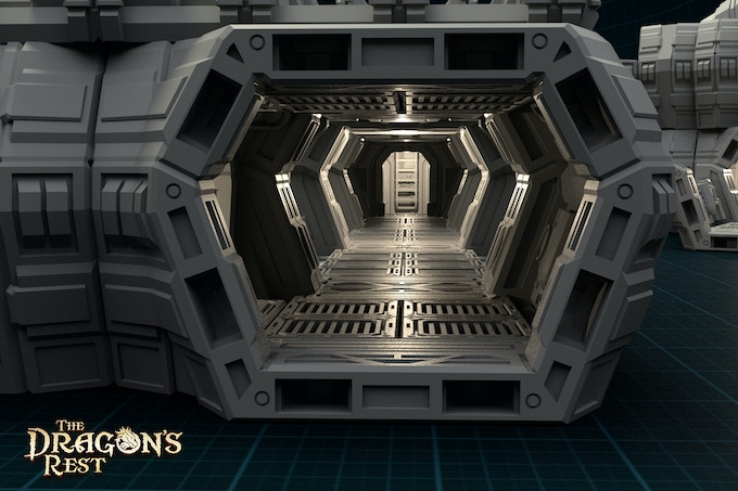 3D Printable Sci-Fi Modular Outpost by The Dragon's Rest