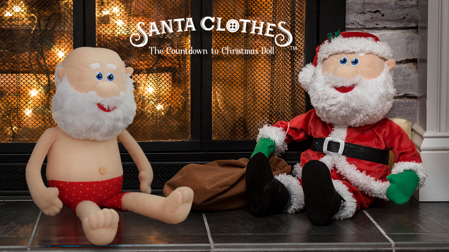 How Many Days Until Christmas Eve.Santa Clothes The Countdown To Christmas Doll By Kevin A