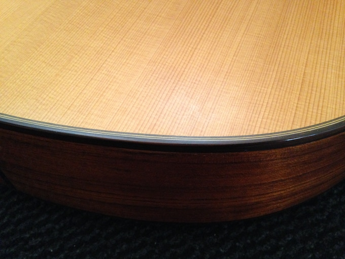 Detail of the Onde's luxury finishing