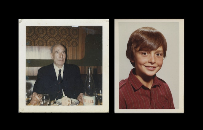 My grandfather, Louis Lagrange, in Paris around 1978 (left), and a school photo of me at 8 years-old.