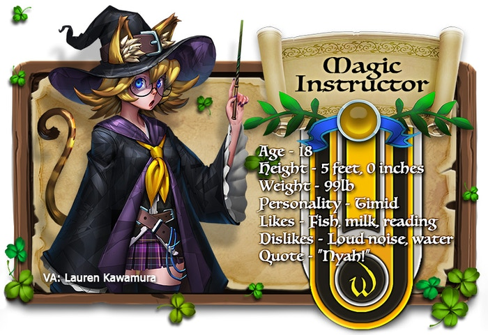 Magic Instructor voiced by Lauren Kawamura