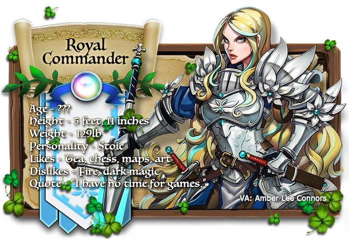 Royal Commander voiced by Amber Lee Connors