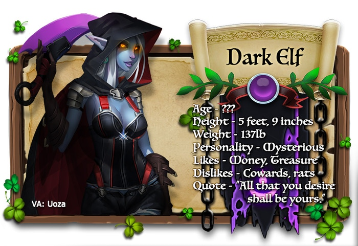 Dark Elf voiced by Uoza