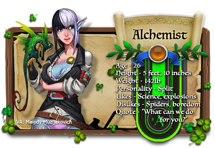 Alchemist voiced by Melody Muzljakovich