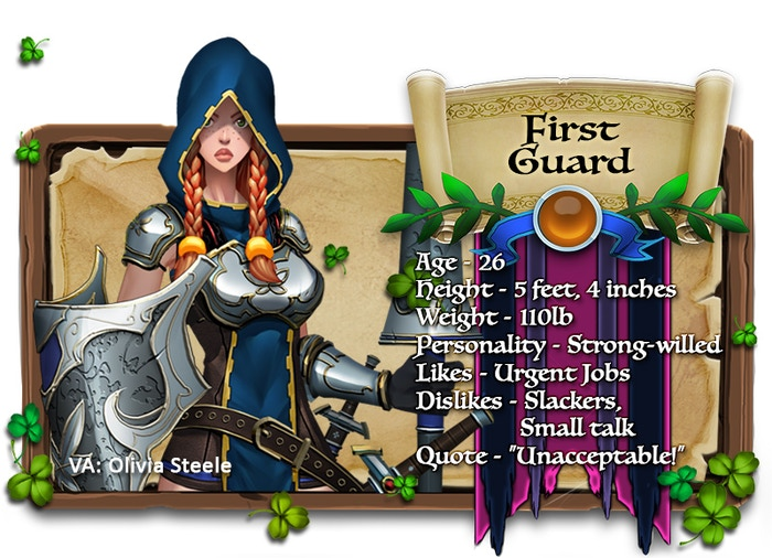 First Guard voiced by Olivia Steele