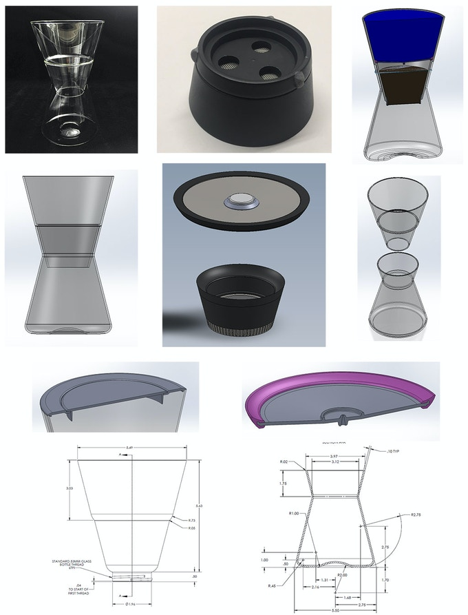 Dozens of models, both computer generated and physical, were created and interacted with in a study of form and function.