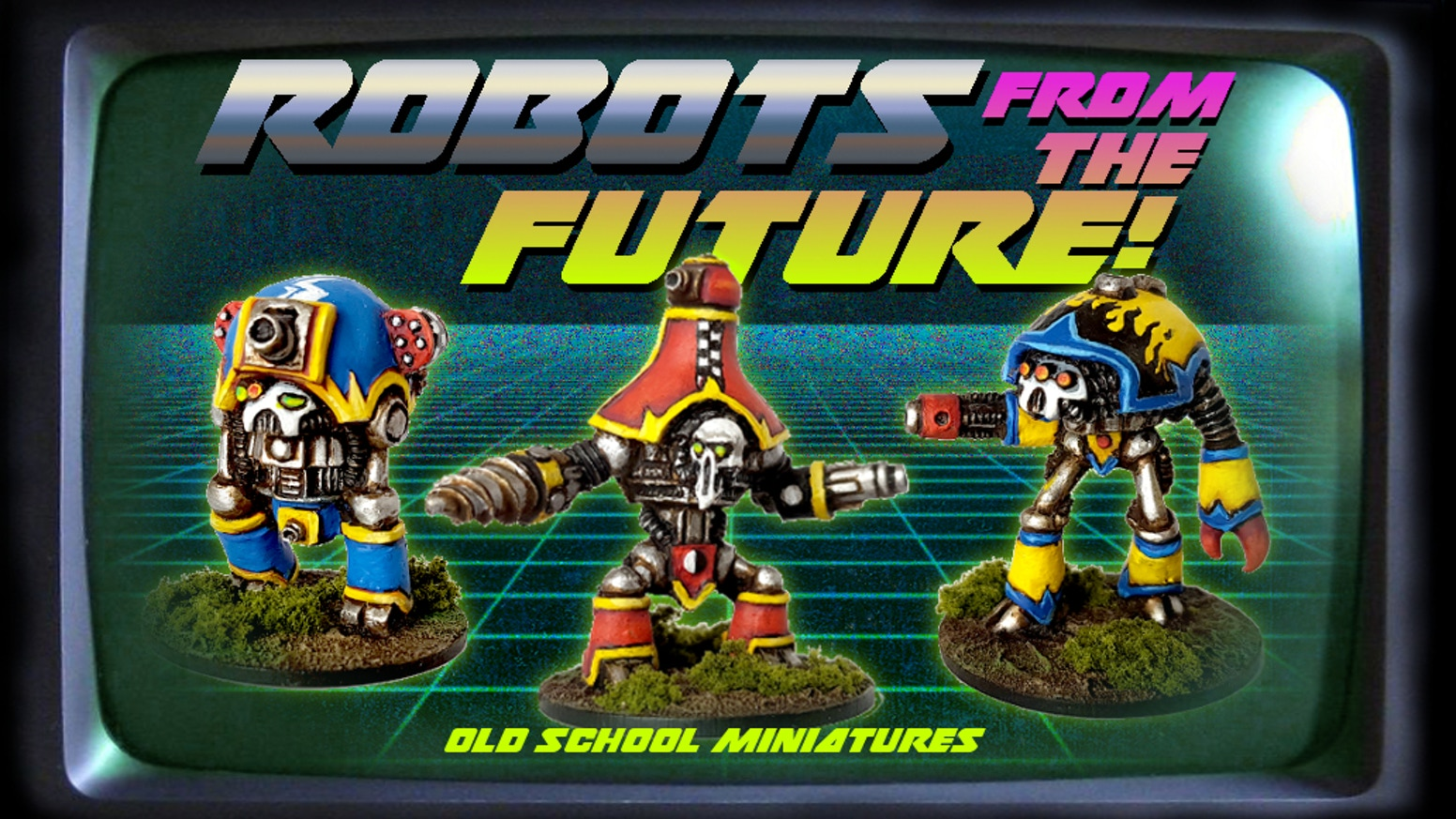 A selection of unique robot miniatures perfect for tabletop conflicts of any scale!