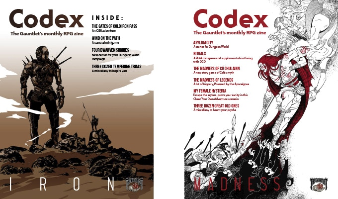 Click here for a free copy of Codex - Iron and Codex - Madness!