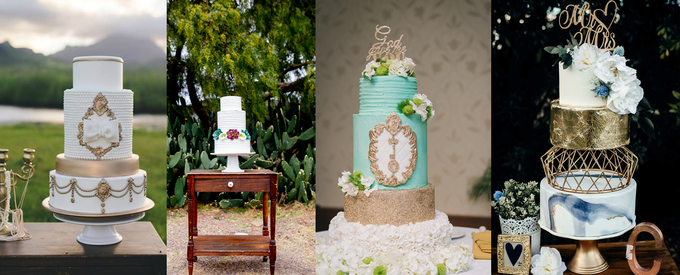 Wedding cakes I've created from 2015 to 2018