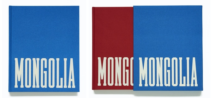 Standard Edition (left) and Collector's Edition with red book and blue slipcase (right). Red & blue are the colors of the Mongolian flag.