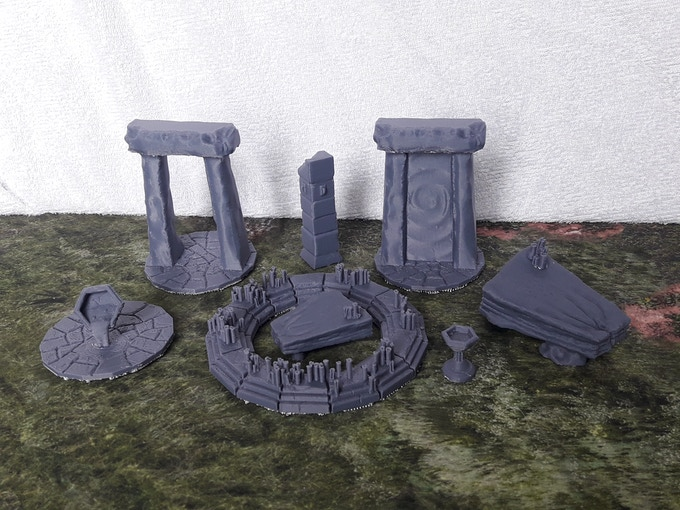 Most of the piece of the sacrifical set (just missing the blank stone insert)