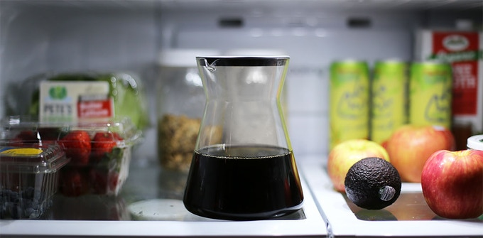 """The serving carafe, at just 7"""" tall, fits perfectly into any fridge, while the silicone lid keeps your cold brew fresh for up to 2 weeks."""