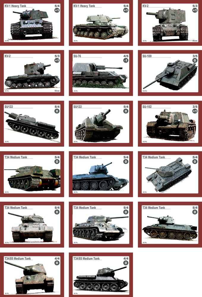Example of some of the Soviet forces