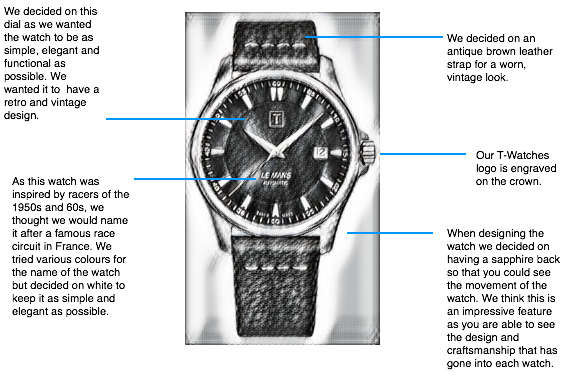 T-Watches LE MANS design sketch
