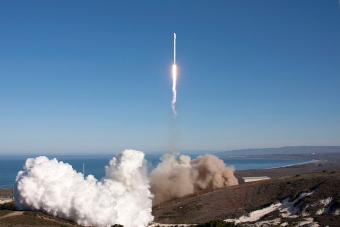 Our Earth Orbital Capsule will be launched into orbit from Vandenberg, AFB on a Falcon 9 Rocket.
