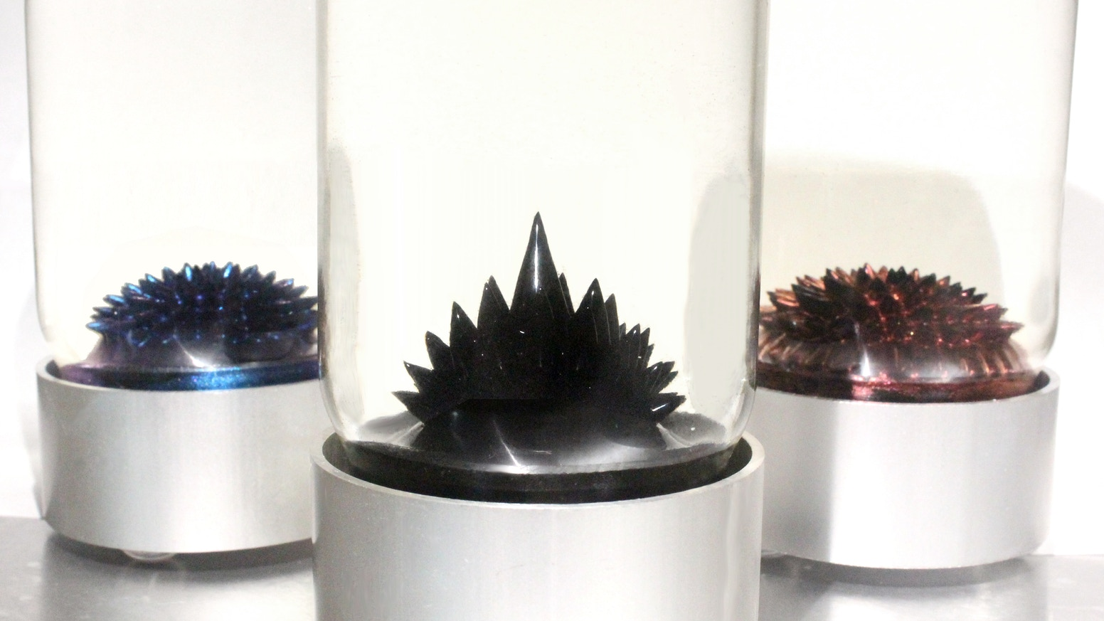 The SPIKE Ferrofluid Display is a mesmerizing interactive kinetic sculpture containing paramagnetic liquid.