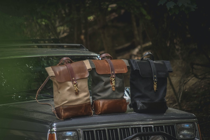 Folkland Rolltop in Field Tan, Pine and Black