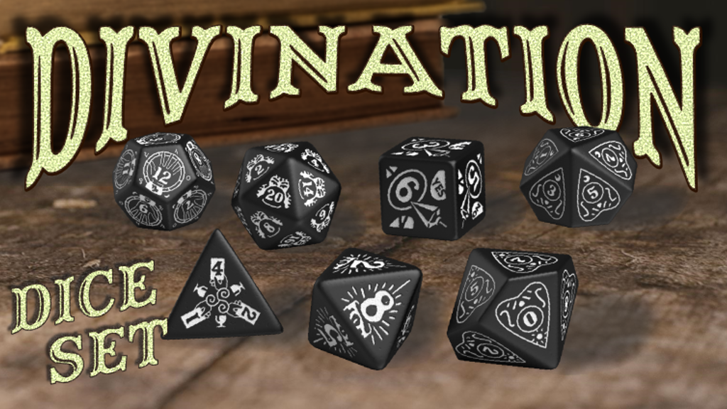 Project image for Divination Gaming Dice by DougOutCrafts