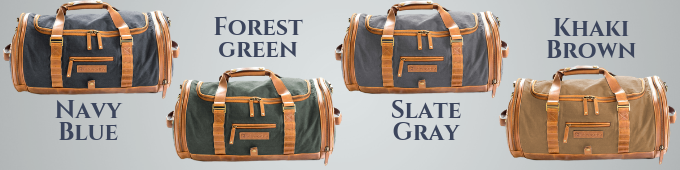 Migration Duffel Waxed Canvas Color Options