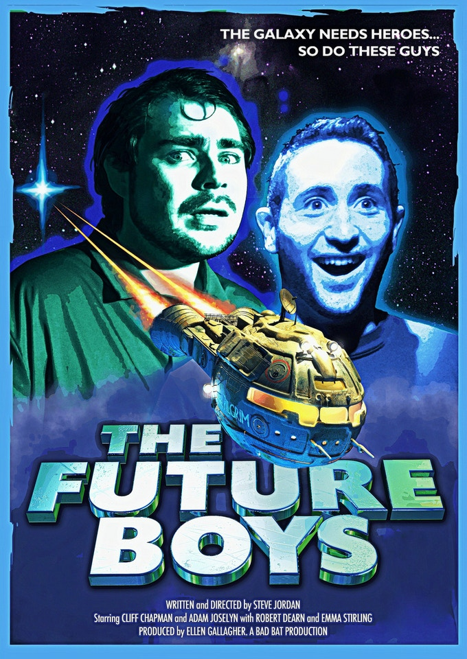 Chris Moore's 'Future Boys' poster, featured on our mugs, shirts and A4 posters on all reward tiers.