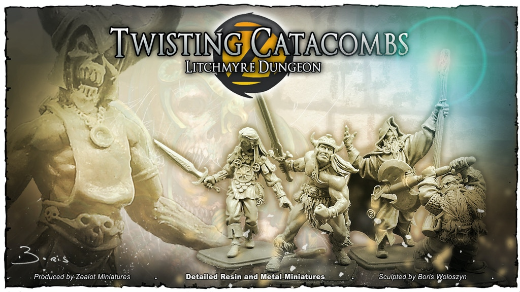 Twisting Catacombs . Litchmyre Dungeon miniatura de video del proyecto