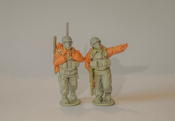 Russian Officer & Radio Operator