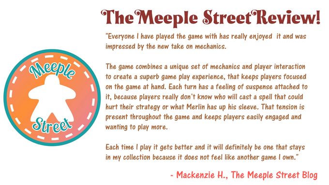 Read The Meeple Street's Review of Kill Merlin!