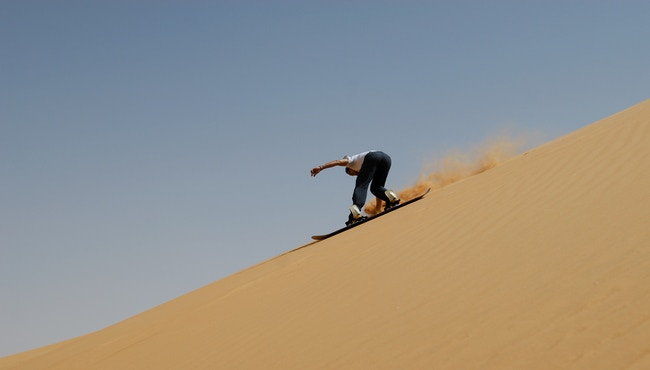 Would you 'Sandboard' down Sand Dunes? -A number of Sand Dunes are readily available to be 'sanboarded' on in Peru
