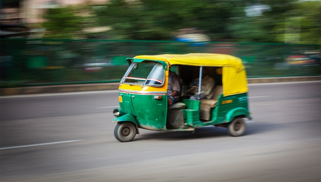 Would you race an Auto Rickshaw? -A vehicle without doors that can be found in India