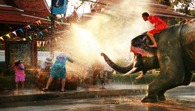 Would you participate in the Songkran Water Festival? The largest water fight in the world found in Thailand