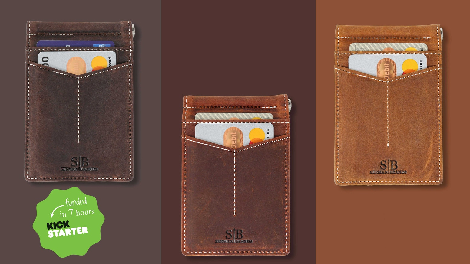 "Experience an enhanced full grain leather wallet - with 4 ""quick draw"" easy access pockets, a slim design and RFID Blocking protection"