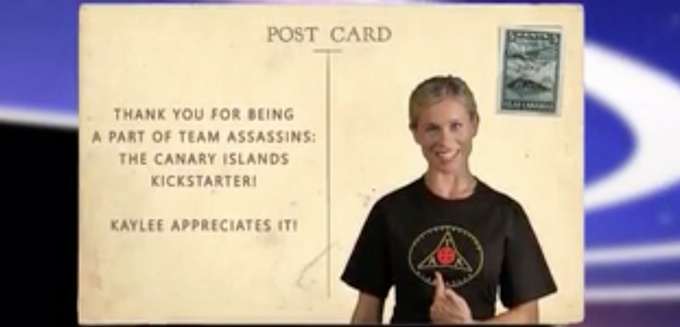 "Tarah and the team will mail you an official ""The Assassin's Apprentice: Silbadores of the Canary Islands"" postcard from the Canary Islands! This is a collector's item unique to this campaign and production. (For all backers that pledged $5 or more.)"