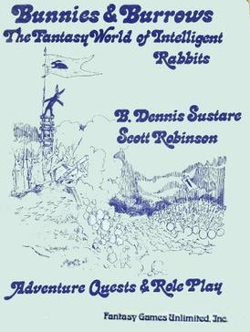 Same authors, new publisher, more bloody rabbit heroics. Original cover of the 1st Edition written by Dr. Sustare and Dr. Robinson, published by Fantasy Games Unlimited