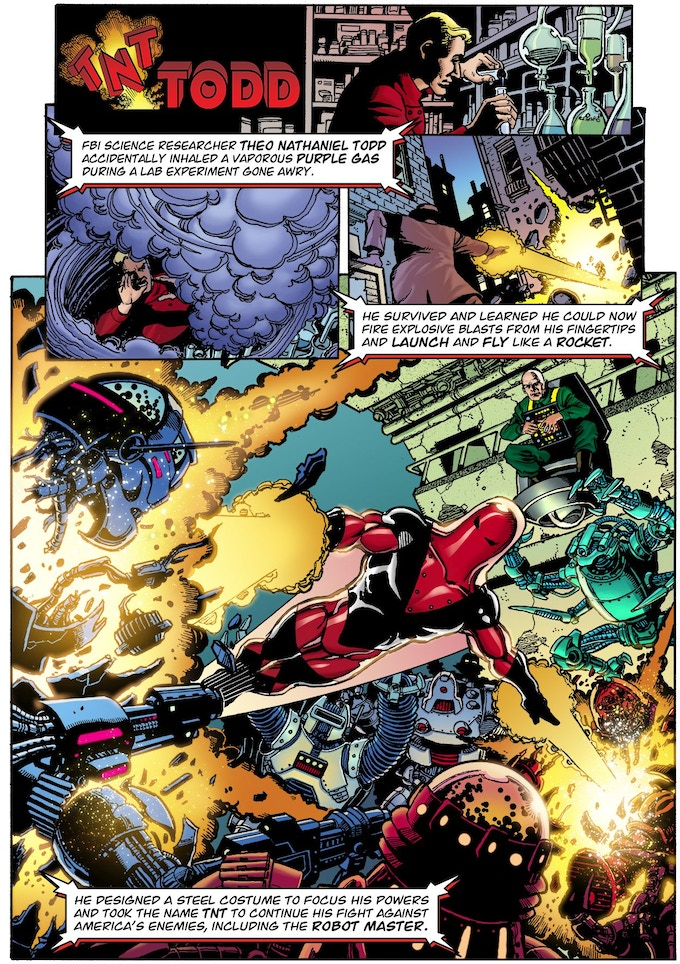 One of the many 1-page Origins - TNT by George Perez