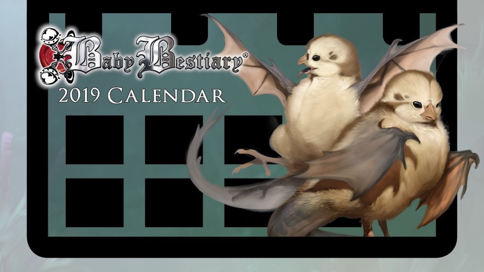 The time has to come and collect on our 5th adorable annual calendar, featuring all your favorite beasties, illustrated by April Prime.
