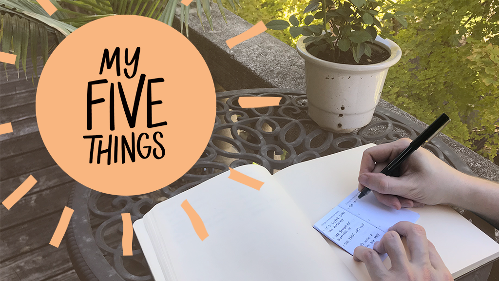 Quickstarter: Myfivethings notebook project video thumbnail