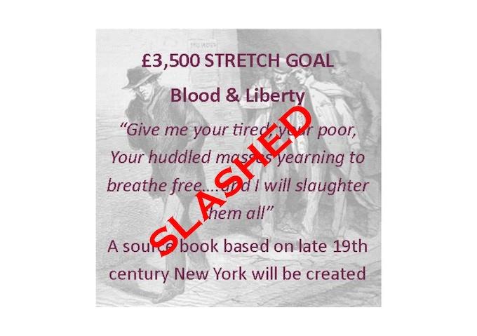 £3500 stretch goal slashed