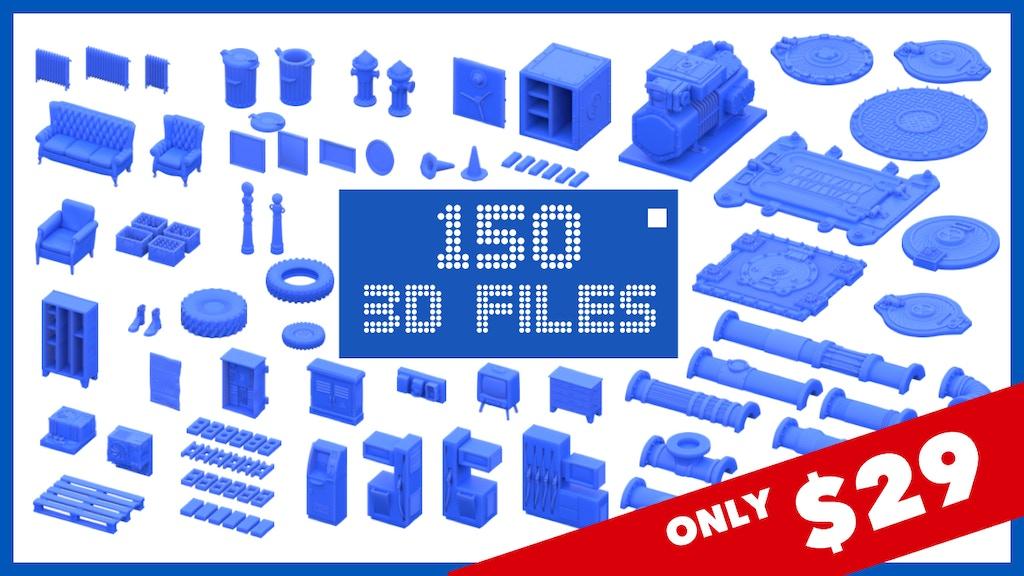 Urban & Industrial 3D Printable Models Sets project video thumbnail
