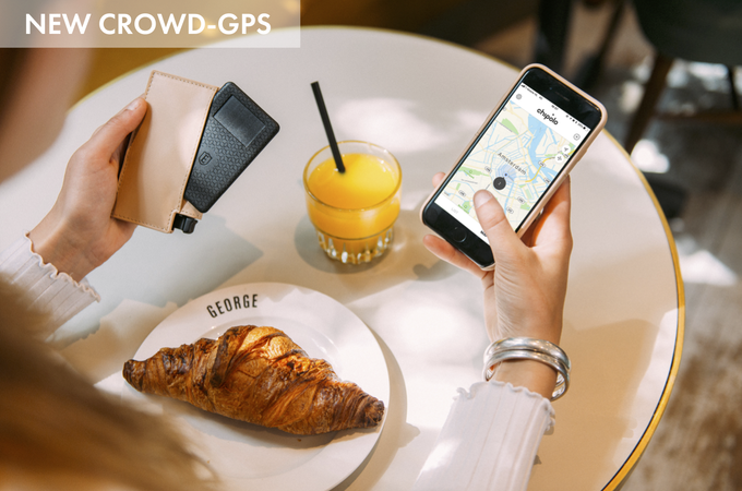 Chipolo's worldwide lost & found network spans across the globe to help you find your wallet even when it's out of Bluetooth range. When any user is within range of your lost item, you receive a GPS update of its location.