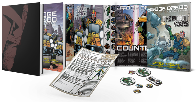 Limited & Standard Edition Rulebooks, GM Screen, Counter Set, and The Robot Wars