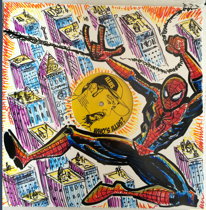 Original Vinyl Art. Spiderman SAMPLE