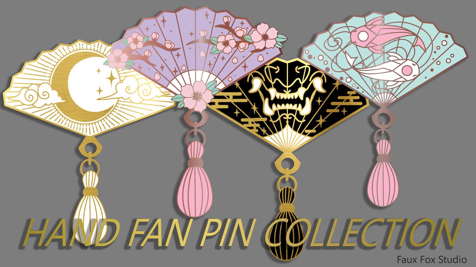 Enamel pins designed by Faux Fox Studio.