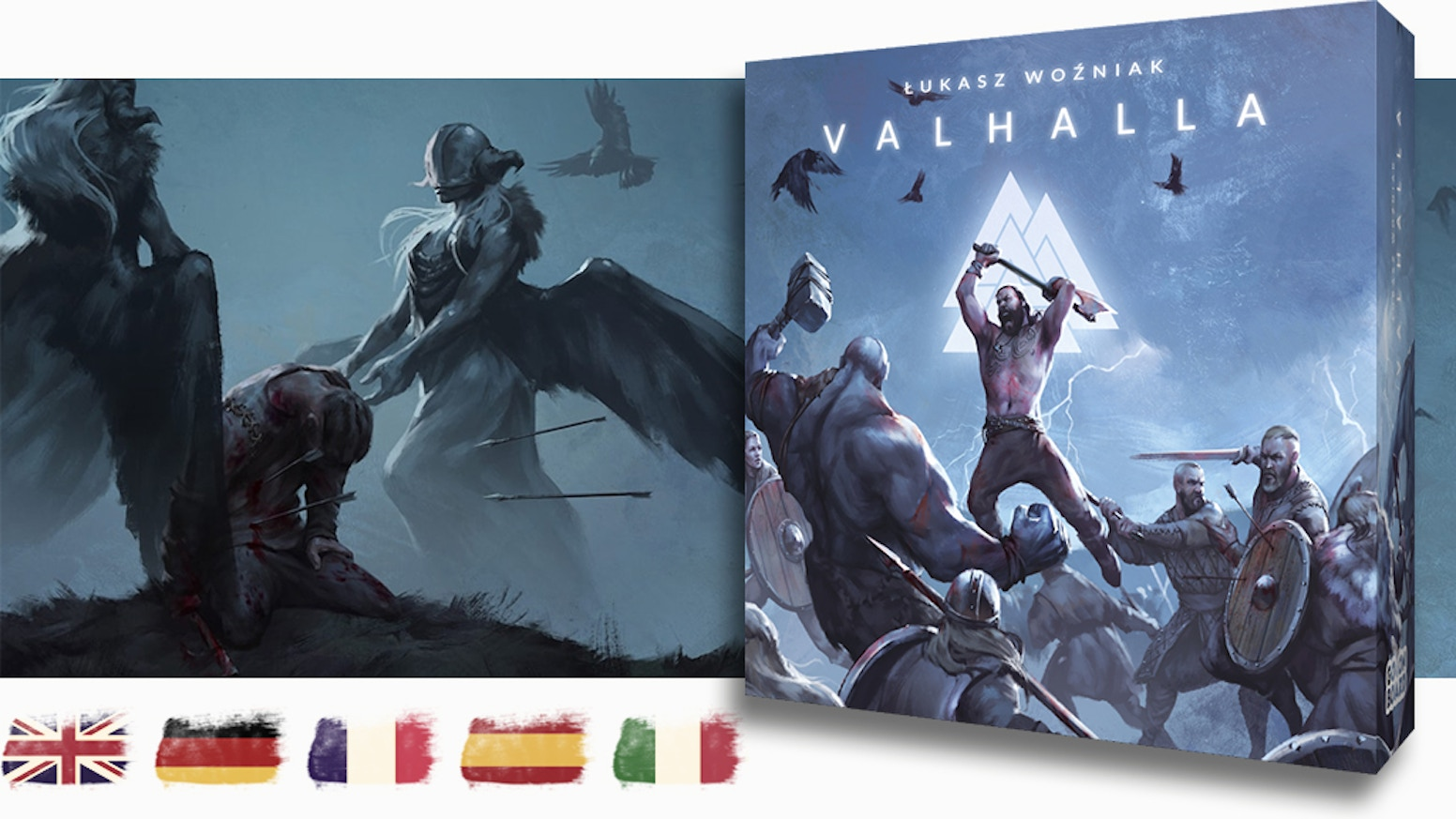 Choose a Jarl, build a team and use special weapon dice to defeat your enemies and win the ultimate glory: a seat in halls of Valhalla!