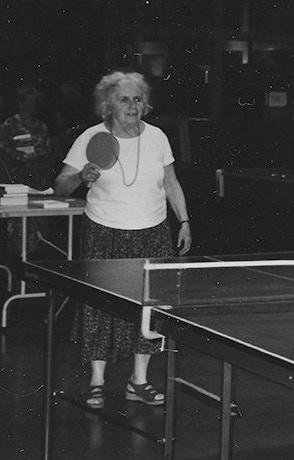 Grace playing ping-pong at McKenzie Bridge.