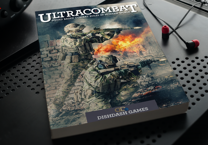 Ultracombat Rulebook - cover image not final design