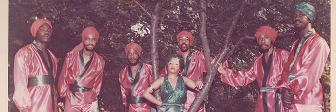 The Moorish Vanguard, Frank is in the green turban on the far right.