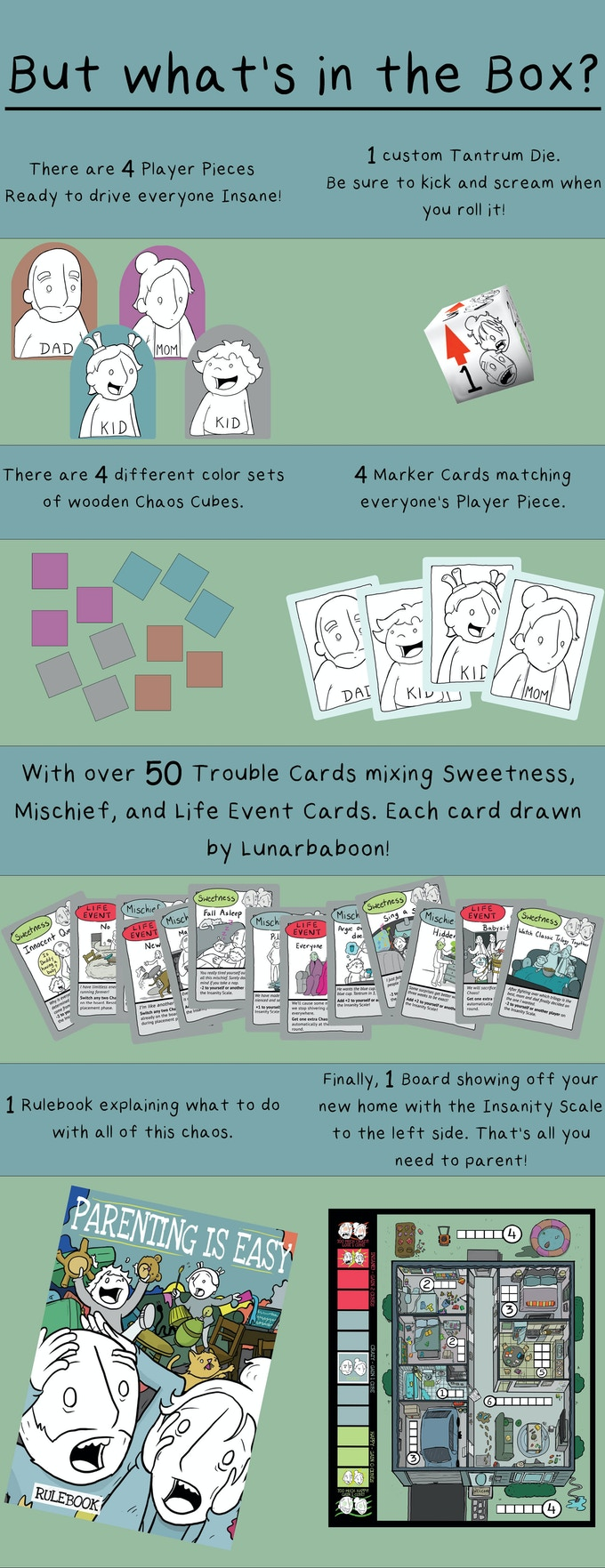 A game for parents, where YOU get to be the kid driving mom and dad completely off the wall! Spread the most chaos and avoid making your parents happy.
