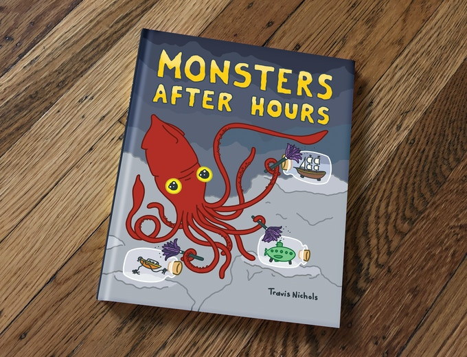 "Monsters After Hours will be a hardcover picture book. 7"" x 9""."